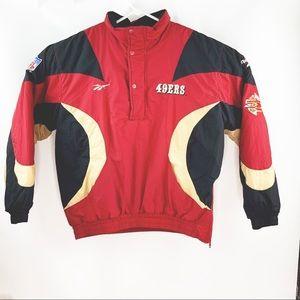 Pro Line Reebok San Francisco 49ers Jacket Medium